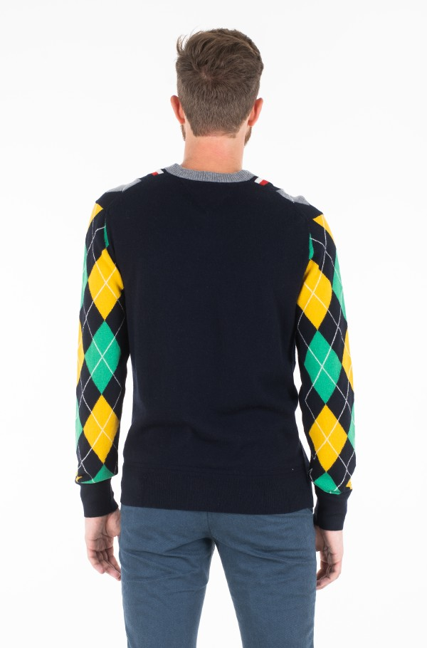 ARGYLE CRICKET SWEATER-hover