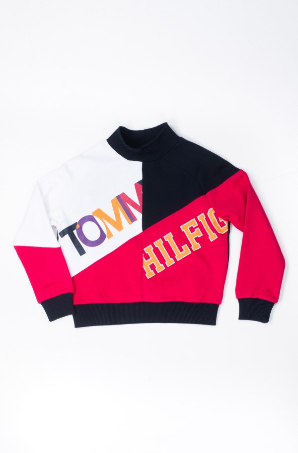 COLOR TEXT BLOCK SWEATSHIRT