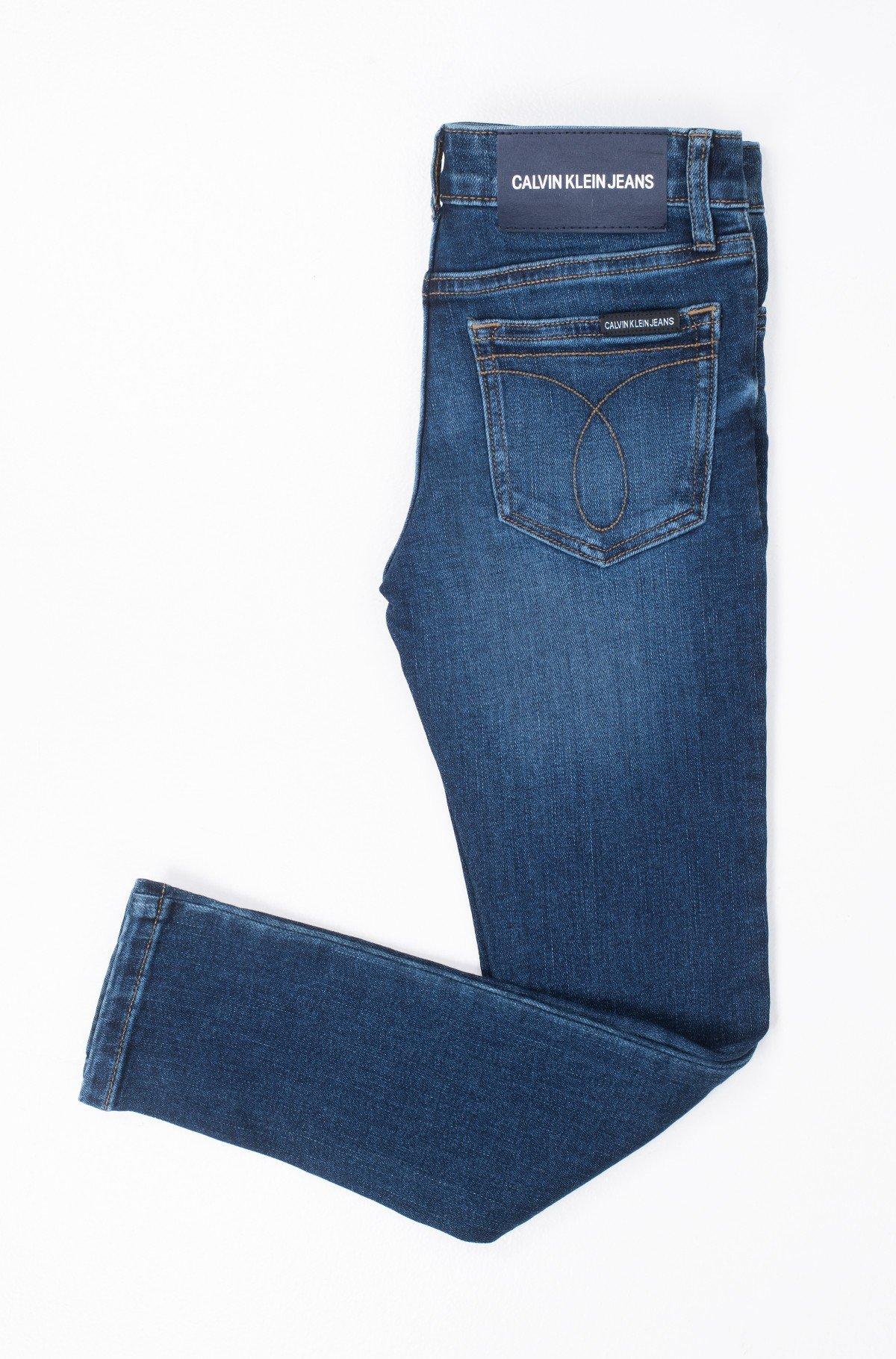 Laste teksapüksid SKINNY MR ESSENTIAL BLUE STR-full-2