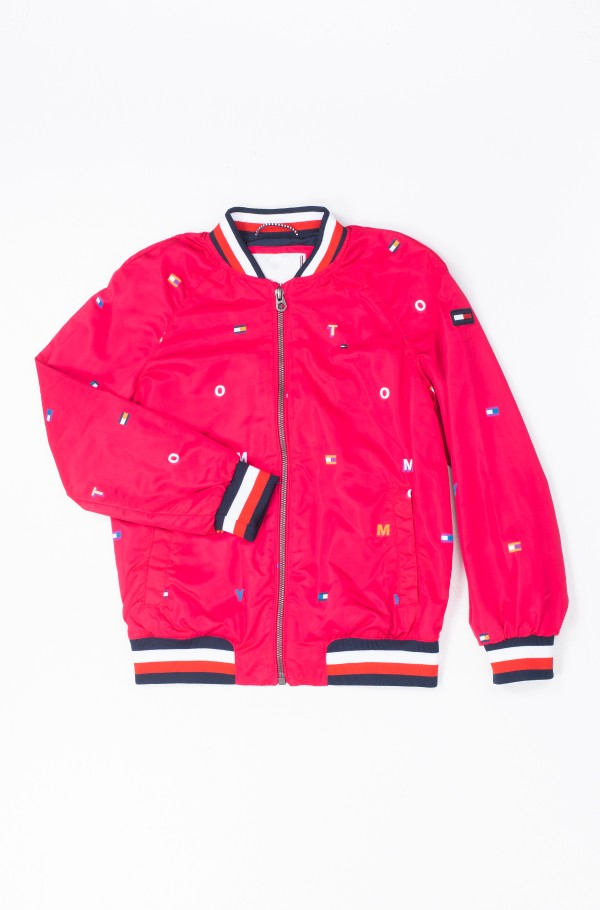 TOMMY CRITTER PRINT BOMBER