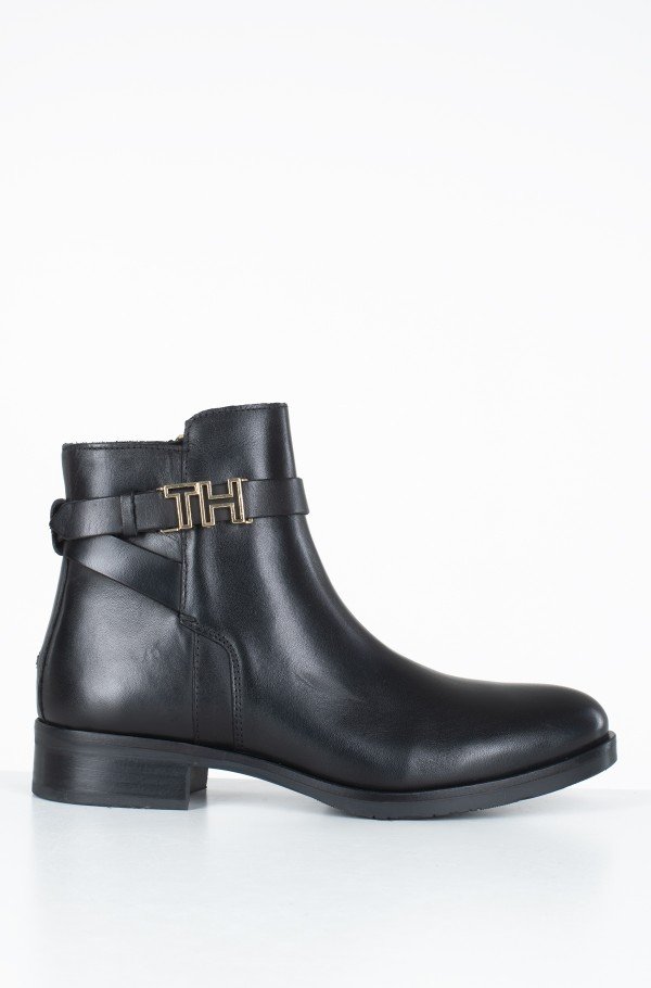 TH HARDWARE LEATHER FLAT BOOTIE