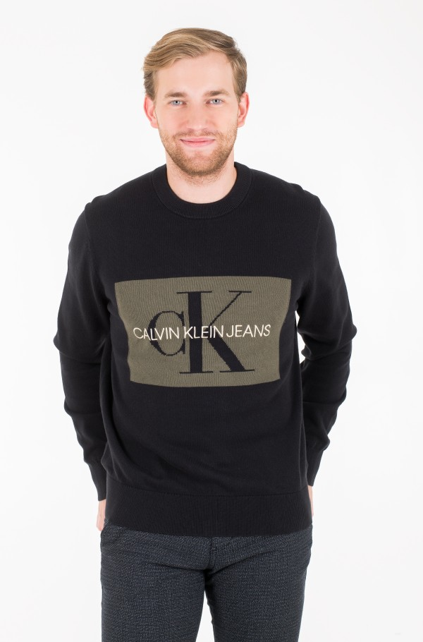 ICONIC MONOGRAM LOGO CN SWEATER