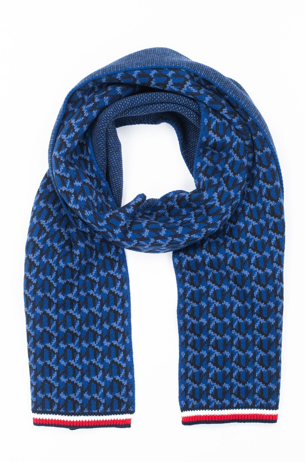 TH MONOGRAM KNIT SCARF