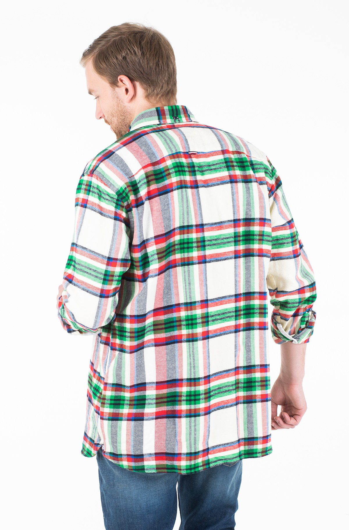 Marškiniai RELAXED BLOWN UP CHECK SHIRT-full-2