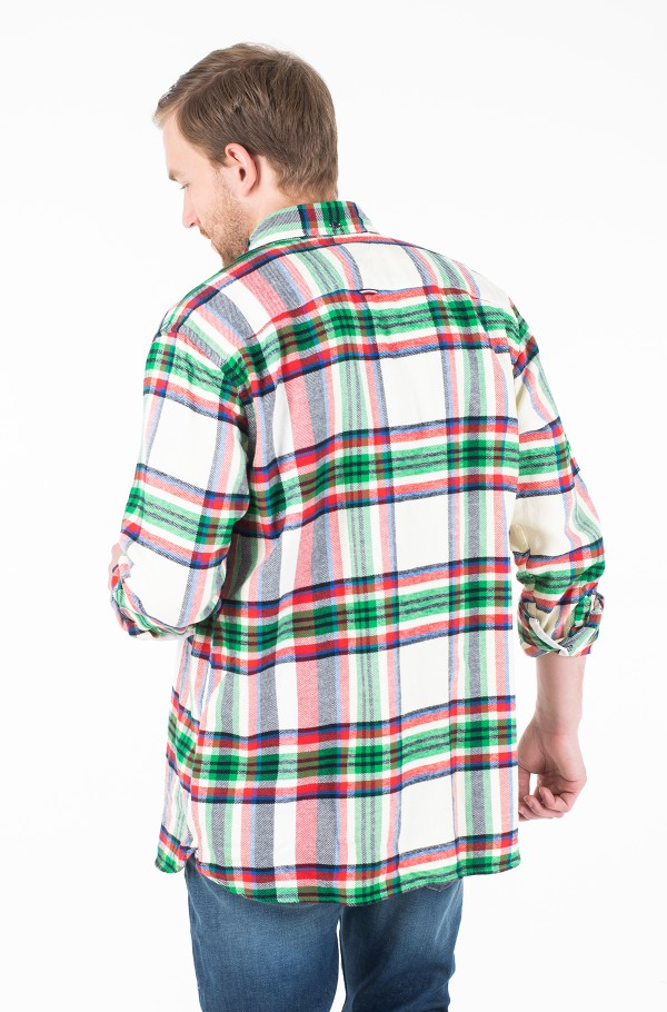 RELAXED BLOWN UP CHECK SHIRT-hover