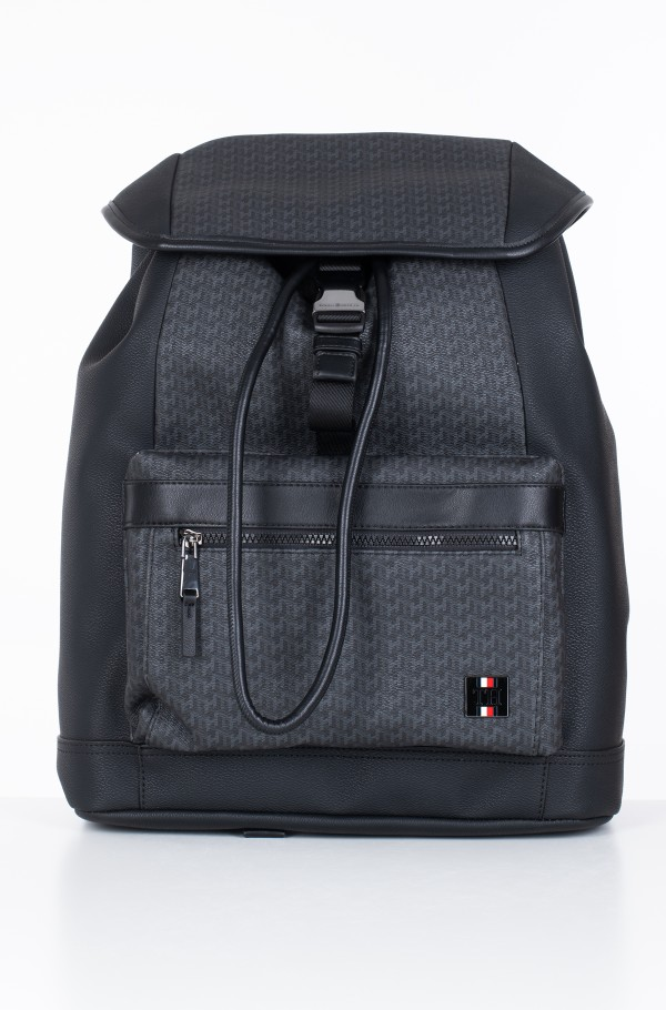 COATED CANVAS MONO FLAP BACKPACK