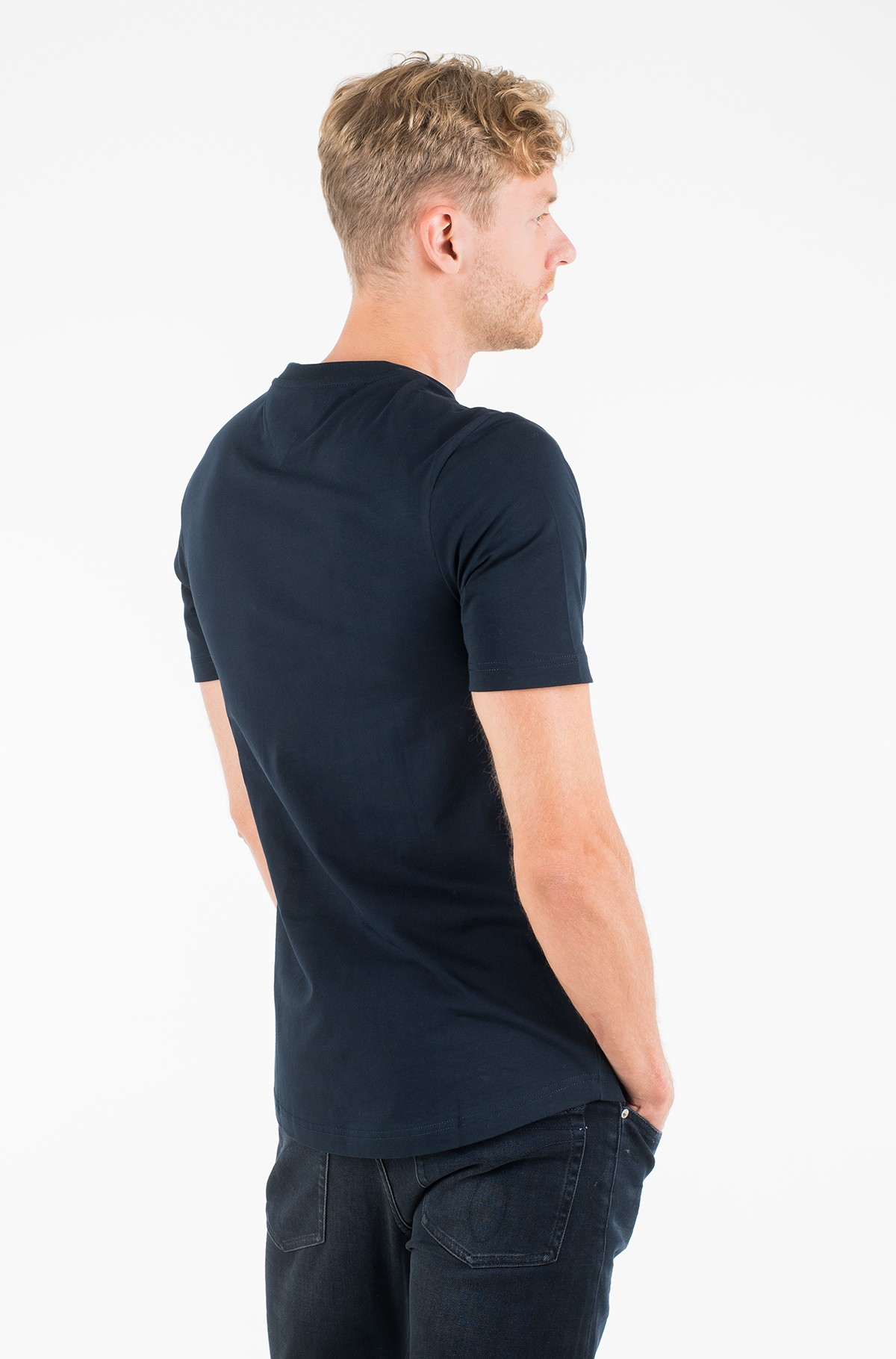 Marškinėliai APPLIQUE H RELAXED FIT TEE-full-2