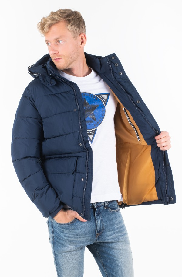 FAUX DOWN HOODED PARKA-hover
