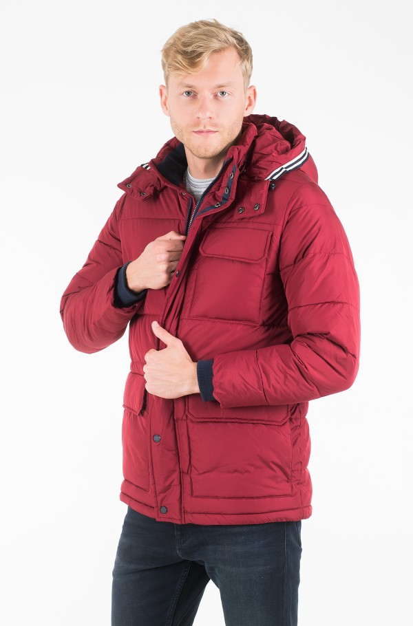FAUX DOWN HOODED PARKA