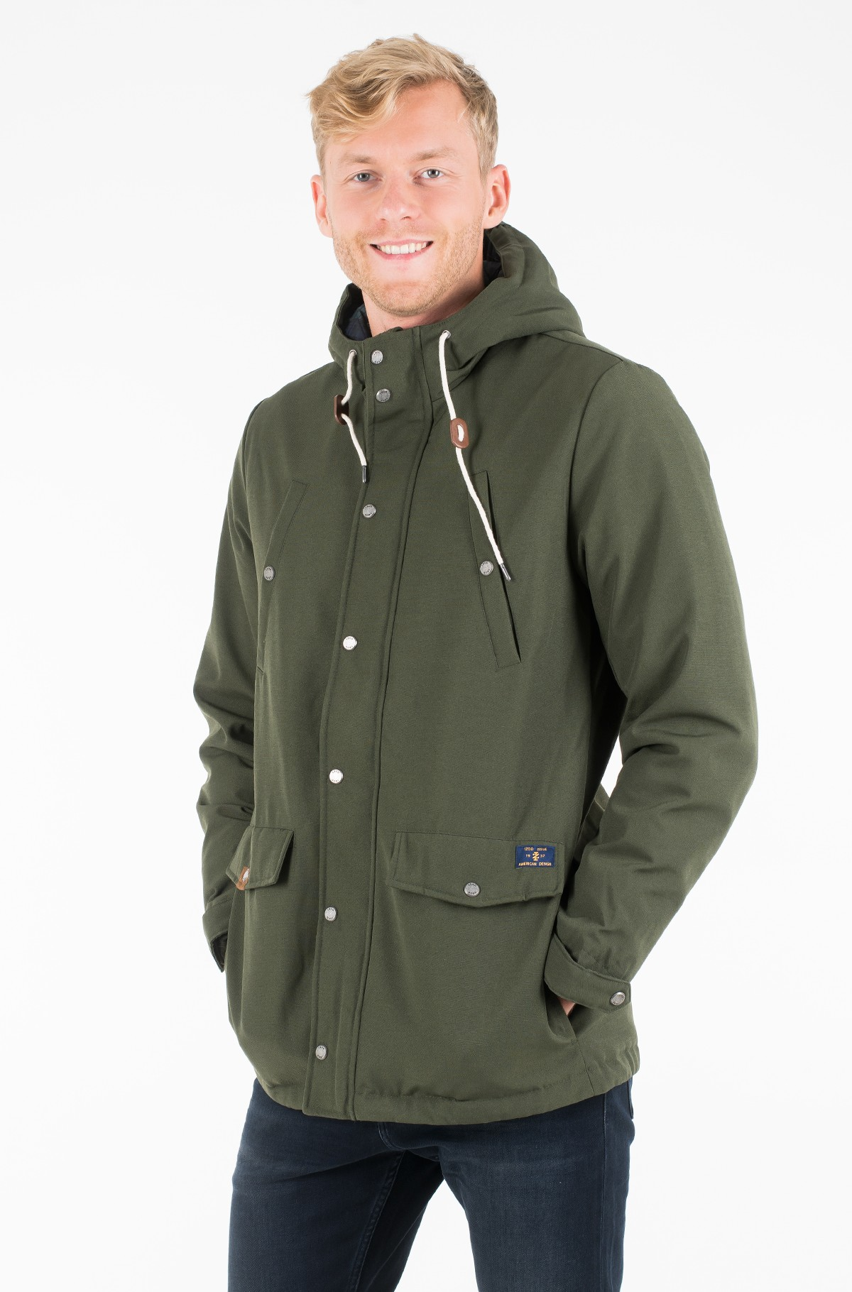 Skranda su gobtuvu CANVAS HOODED PARKA-full-1