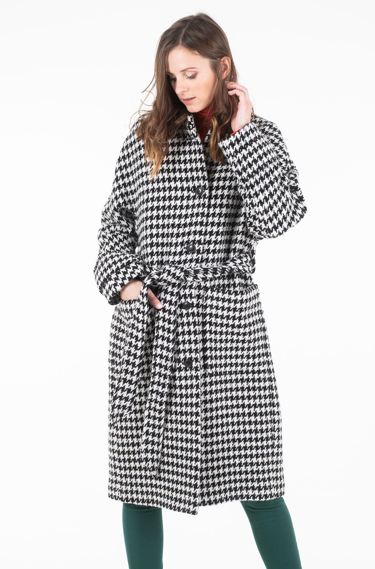 Coat NICO VISUAL WOOL BLEND COAT-full-1