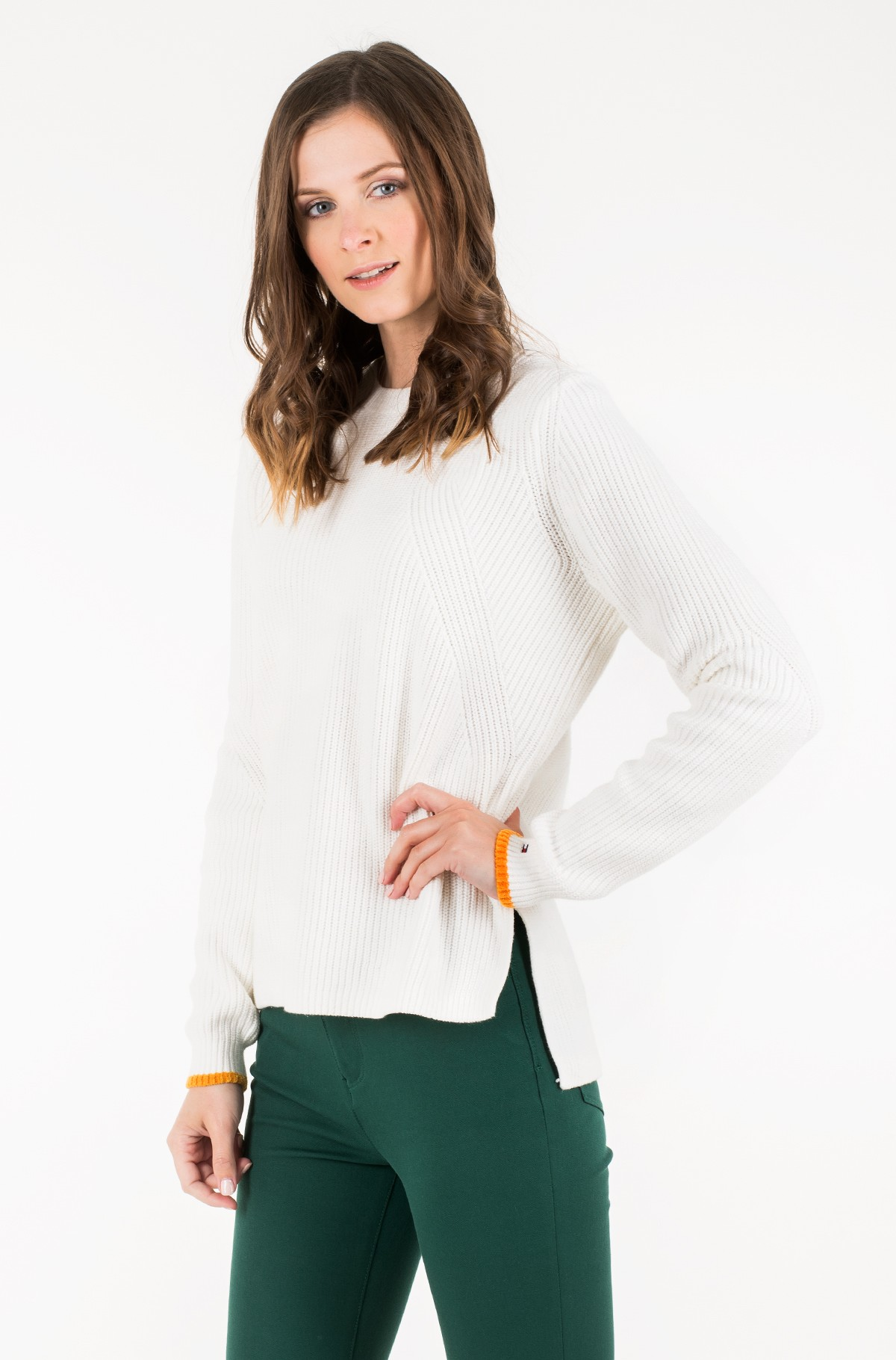 Sweater TJW SIDE SLIT CREW SWEATER-full-1