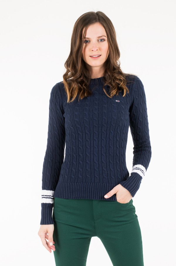 TJW TIPPING CABLE SWEATER