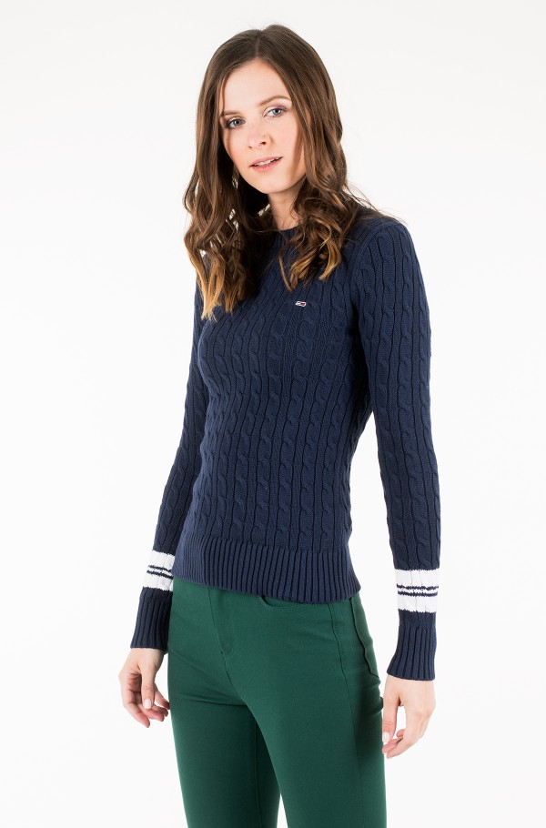 TJW TIPPING CABLE SWEATER-hover