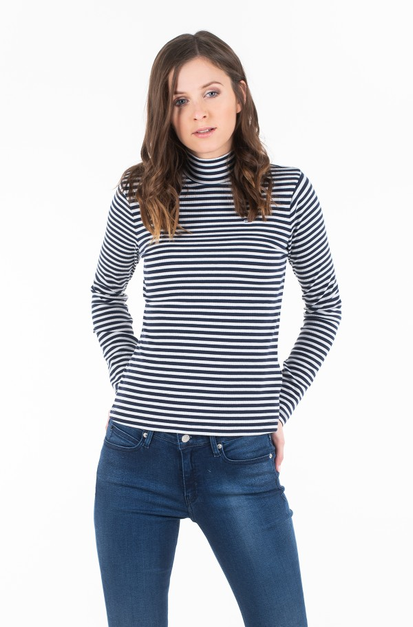 TJW MOCK NECK STRIPE LONGSLEEVE