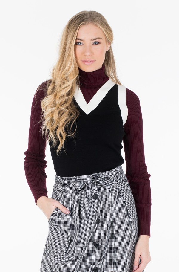 ZENDAYA PANEL ROLL NECK SWEATER