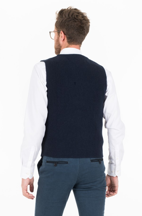 KNITTED WAISTCOAT-hover