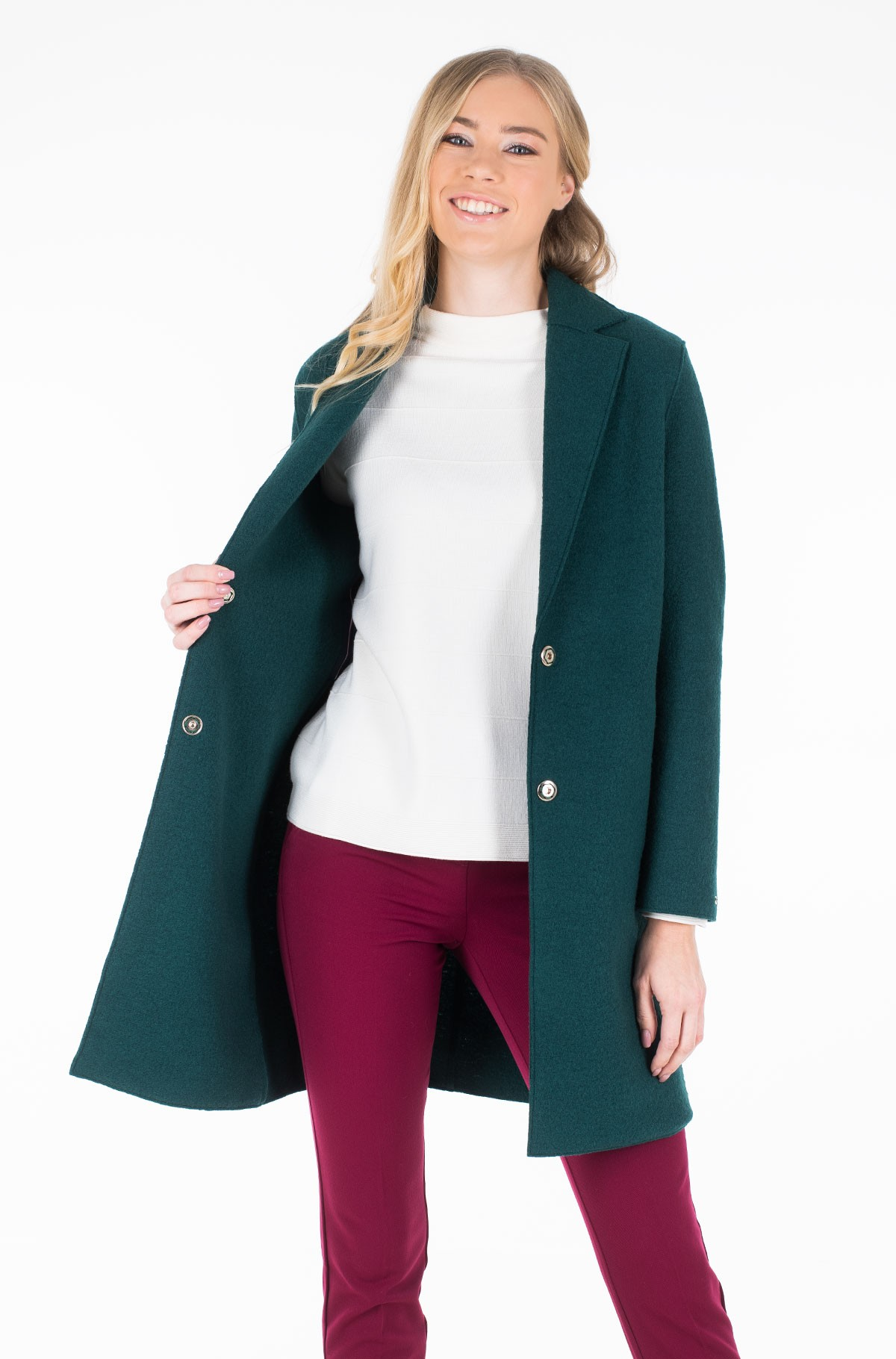 Paltas RACHEL BOILED WOOL SB COAT-full-1