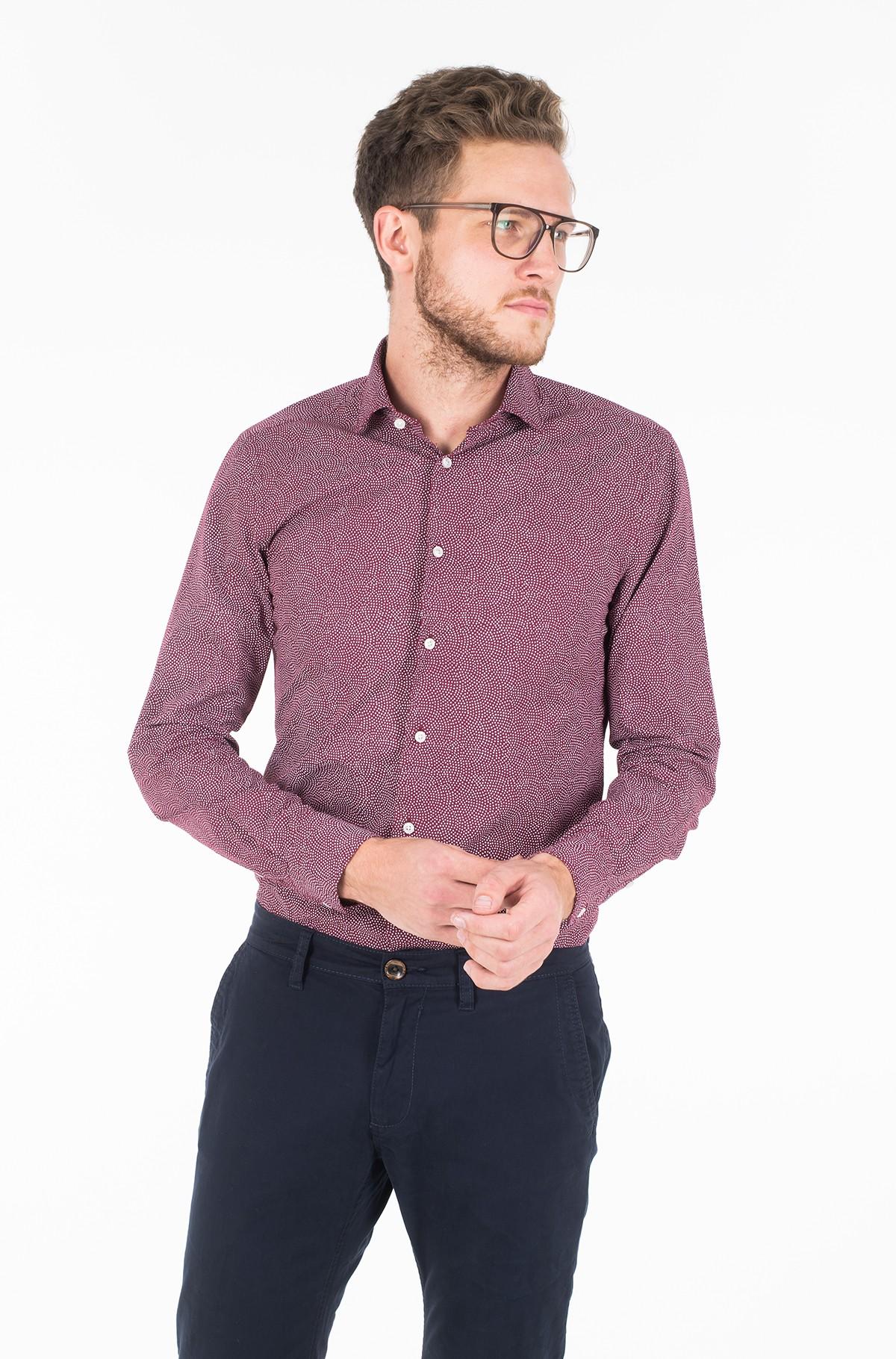 Marškiniai WASHED PRINT CLASSIC SLIM SHIRT-full-1