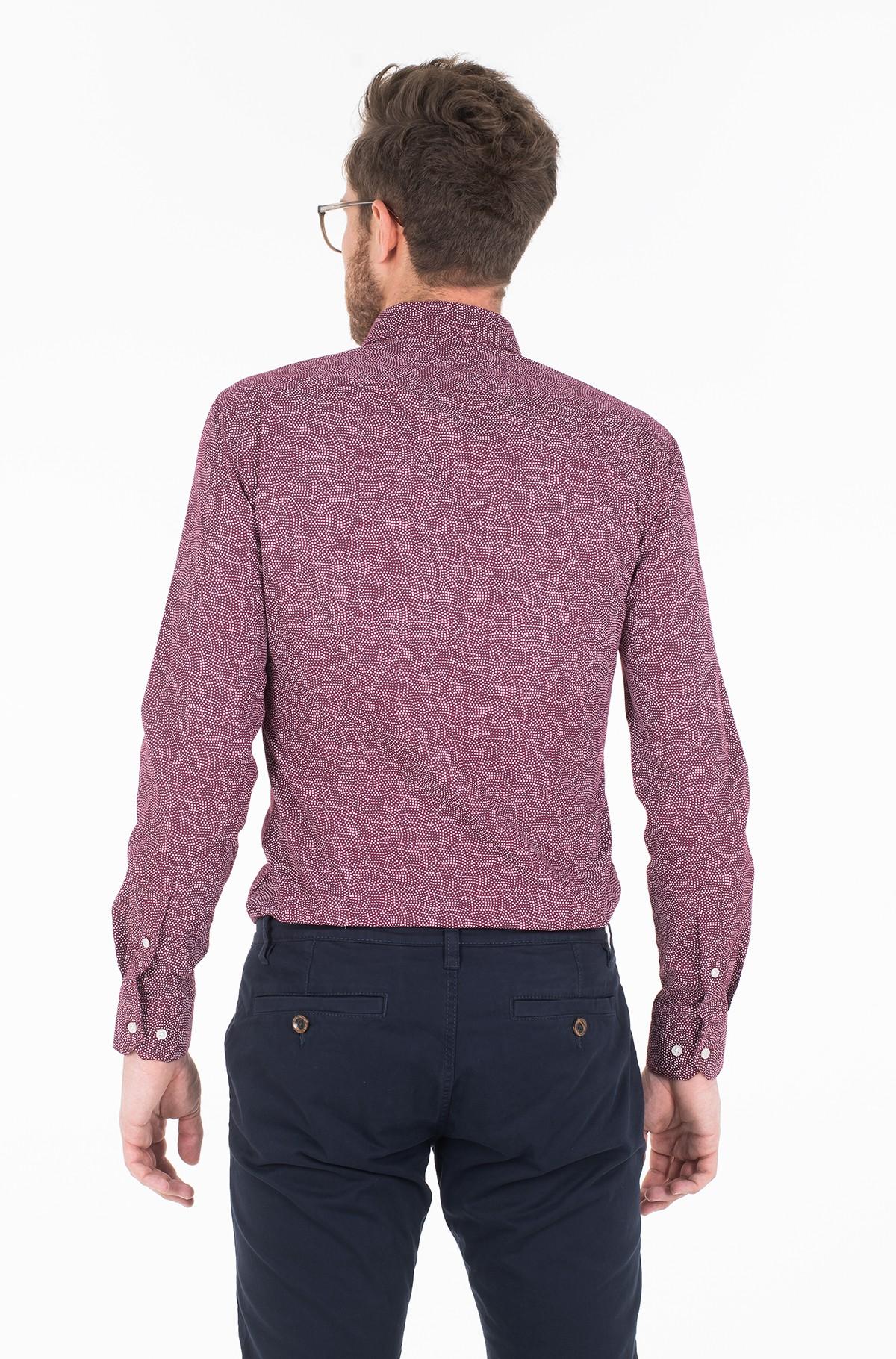 Marškiniai WASHED PRINT CLASSIC SLIM SHIRT-full-2