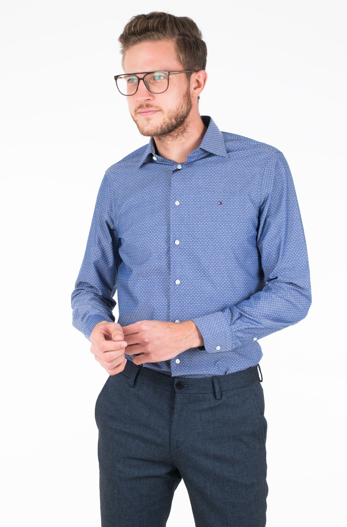 Marškiniai MICRO DESIGN CLASSIC SHIRT-full-1