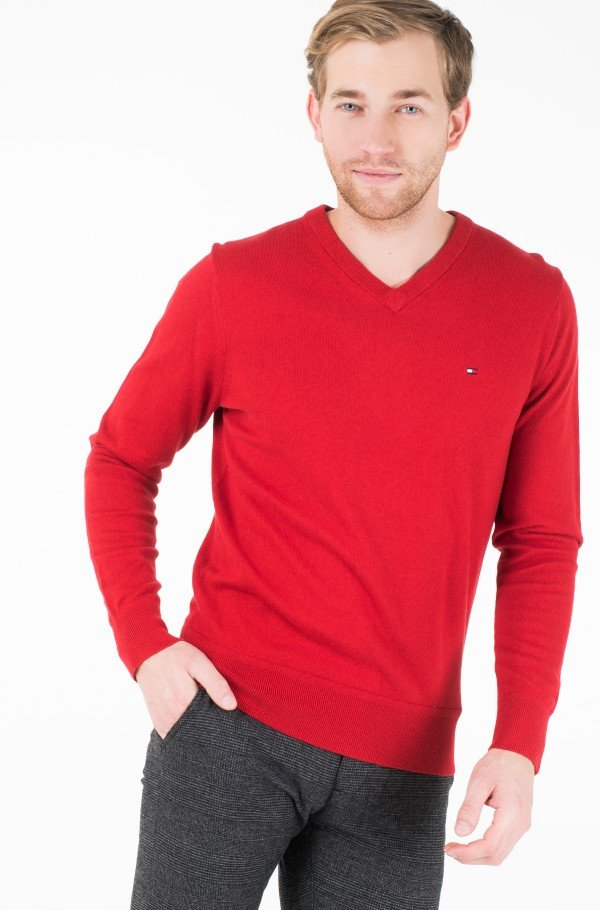 PIMA COTTON CASHMERE V NECK