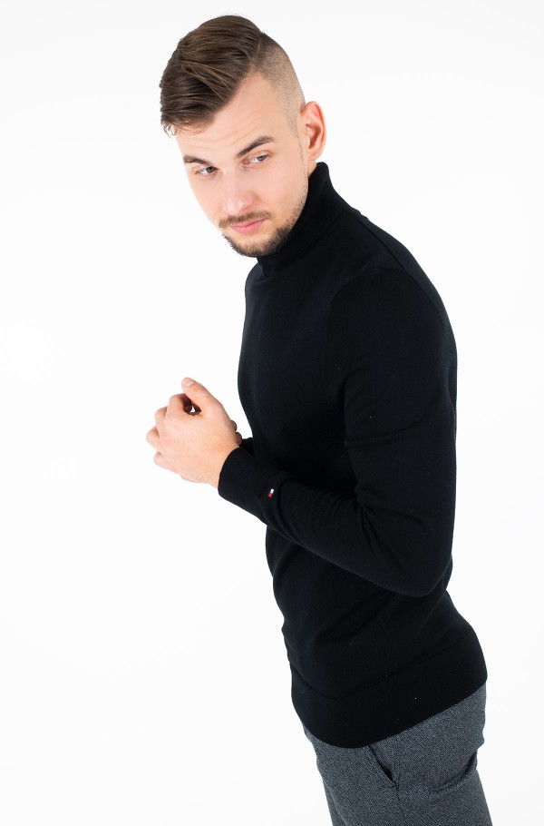 LUXURY WOOL ROLL NECK-hover