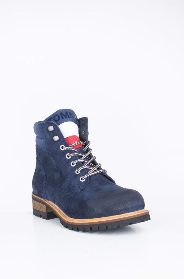SUEDE LACE UP BOOT-hover