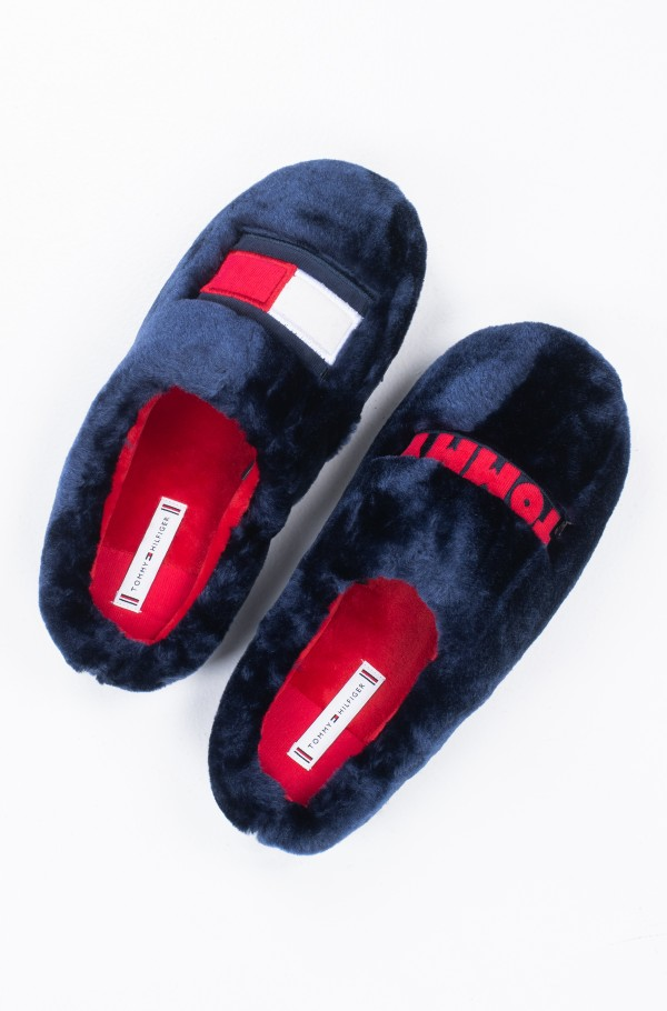 TOMMY WOMENS FUR SLIPPER