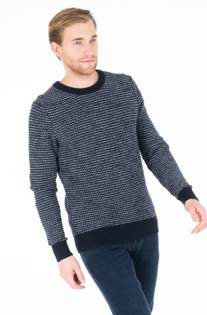Kampsun HONEYCOMB SLUB SWEATER-1