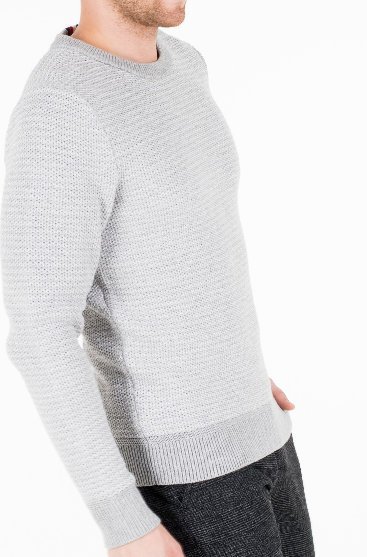 Megztinis HONEYCOMB SLUB SWEATER-full-2