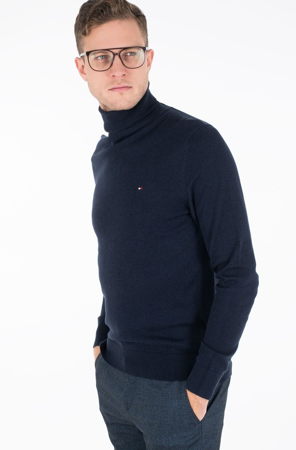 ORGANIC COTTON SILK ROLL NECK-hover