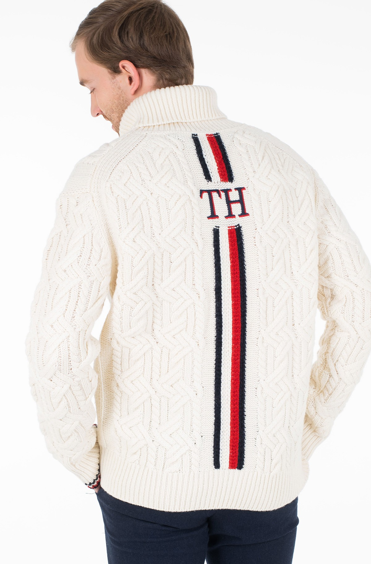 Megztinis OVERSIZED TH MONOGRAM ROLL NECK-full-4