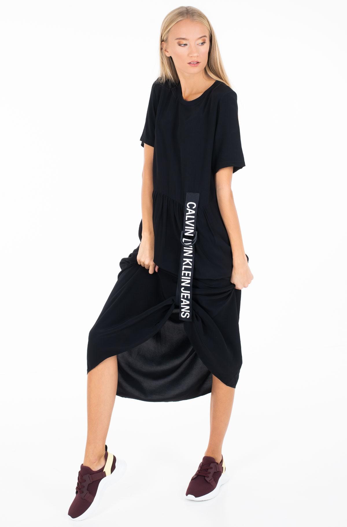Dress SS LOGO STRAP MIDI DRESS-full-1
