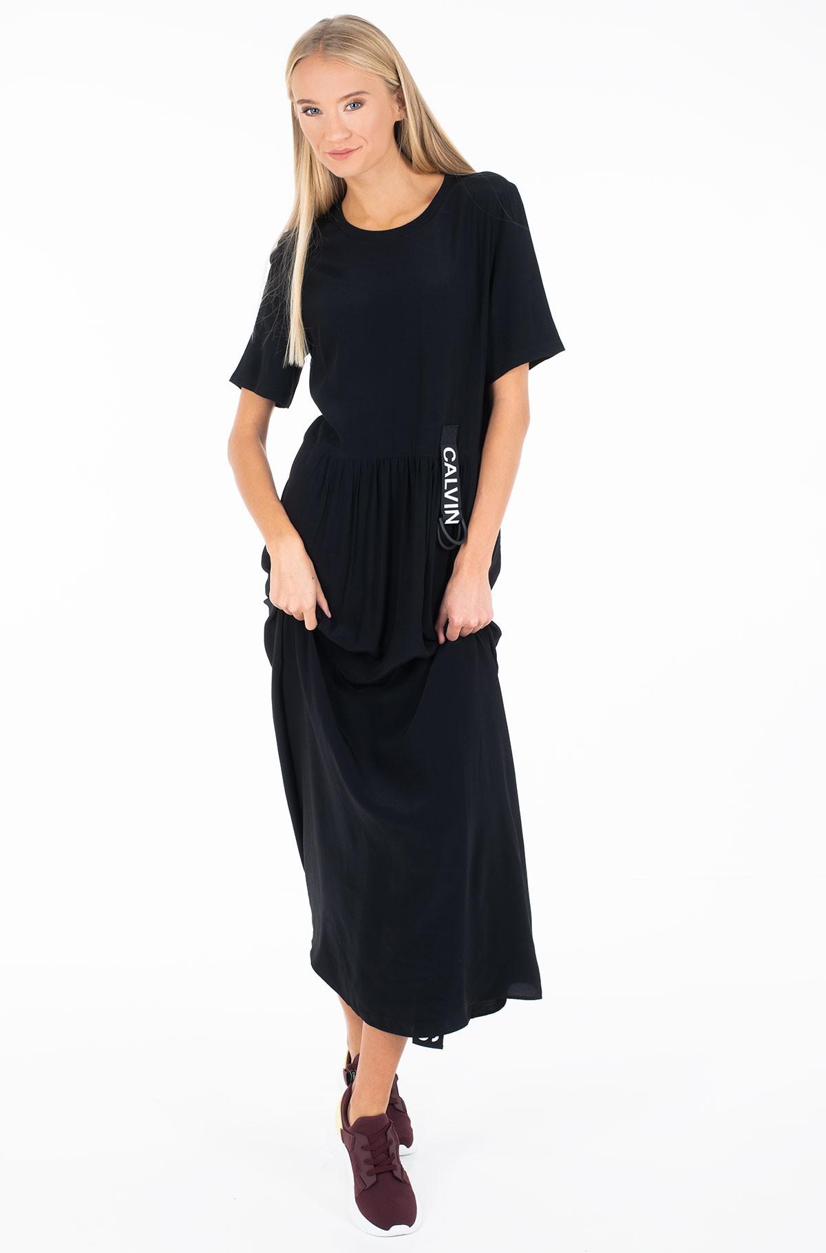 Dress SS LOGO STRAP MIDI DRESS-full-2
