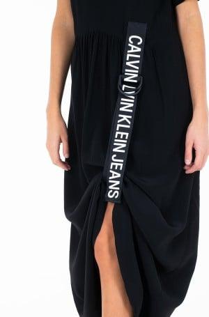 Dress SS LOGO STRAP MIDI DRESS-3