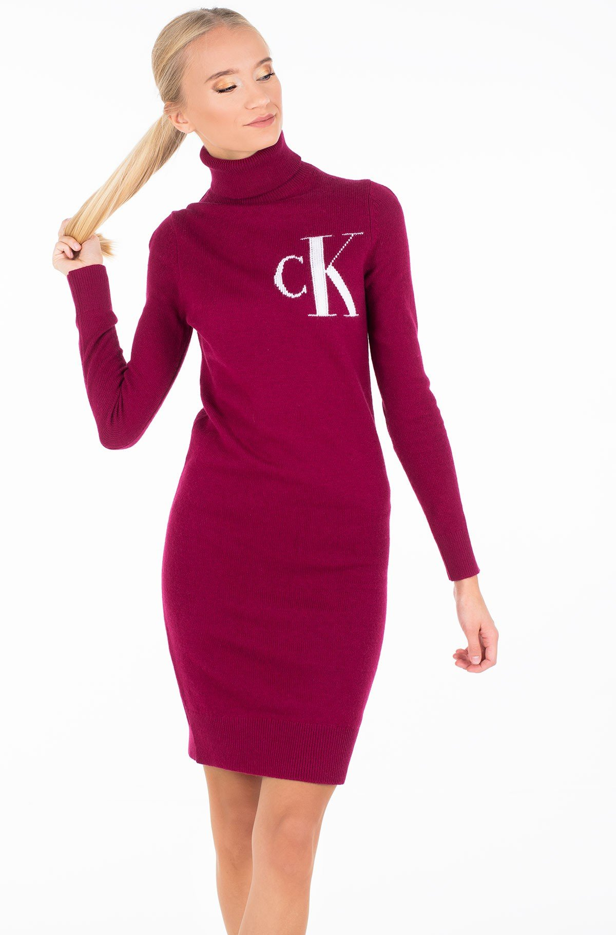 Megzta suknelė MONOGRAM TN SWEATER DRESS-full-1