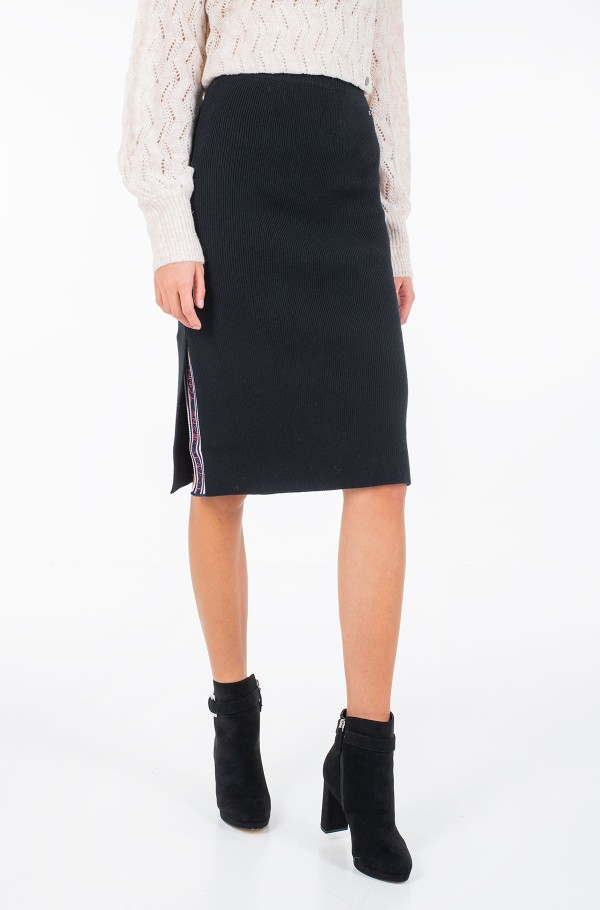 TJW TAPE DETAIL SKIRT