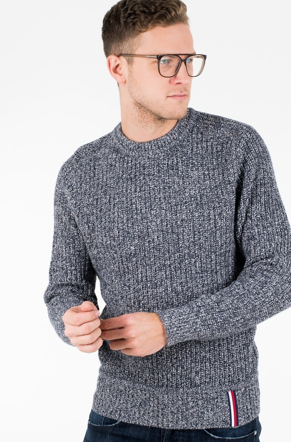 PRETWISTED RIB DETAILED SWEATER