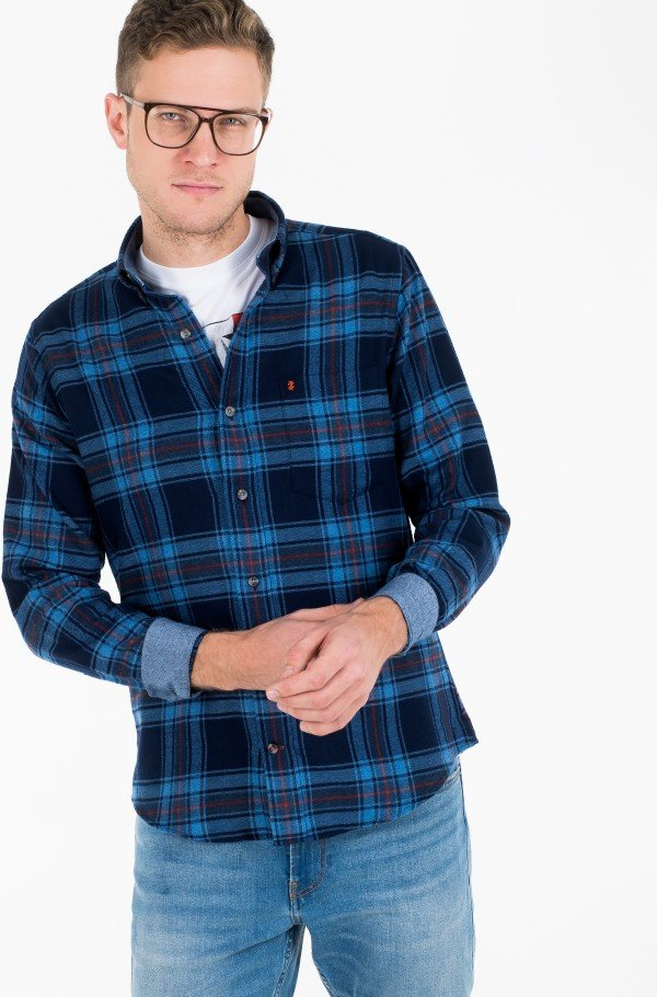 FLANNEL PLAID BD SHIRT