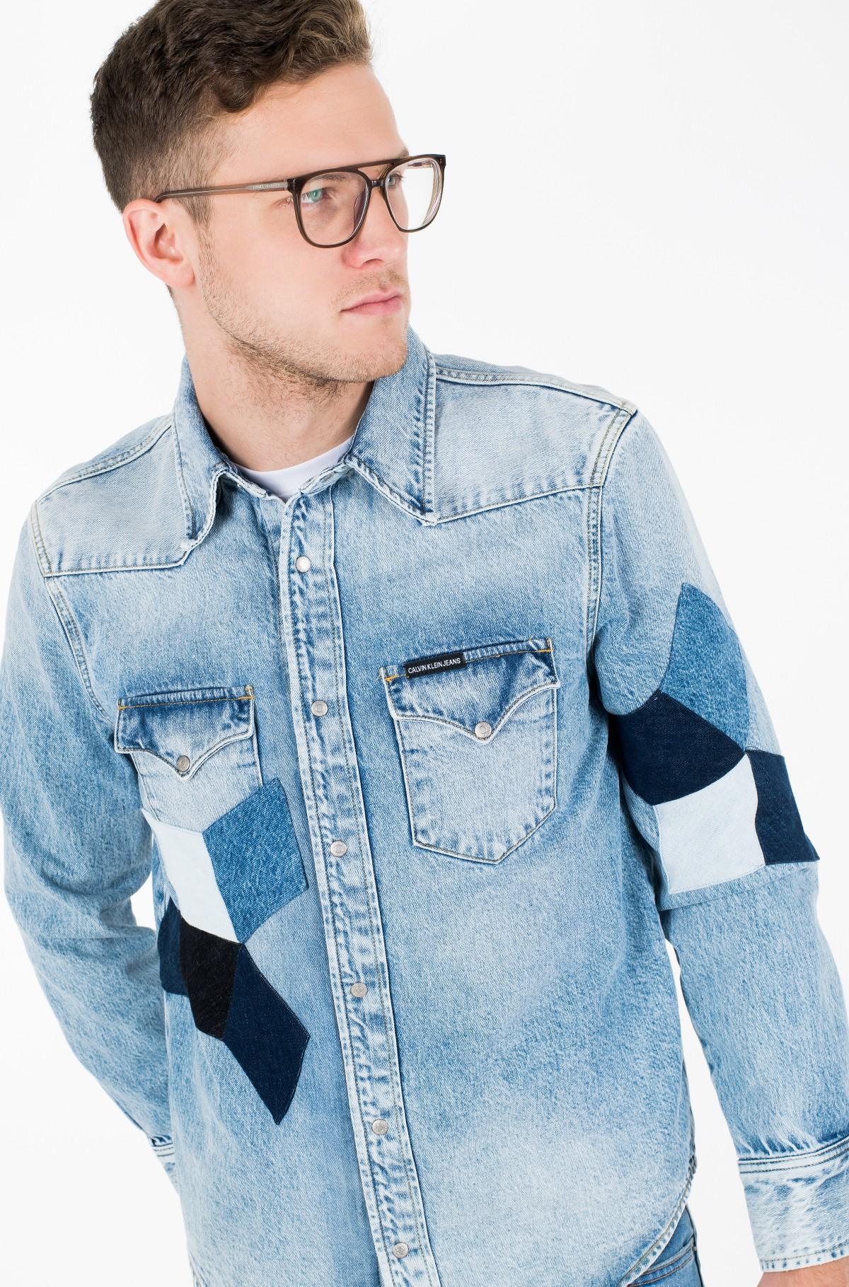 Džinsiniai marškiniai FOUNDATION WESTERN SHIRT-full-2