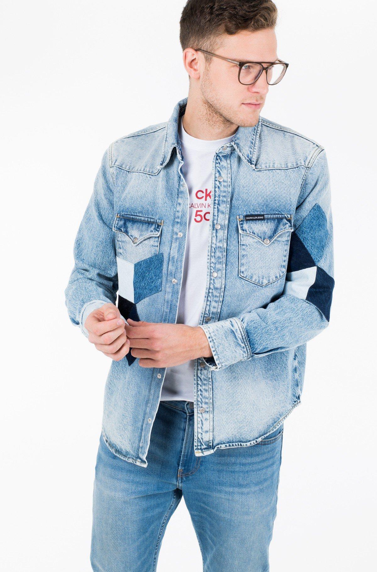 Džinsiniai marškiniai FOUNDATION WESTERN SHIRT-full-1