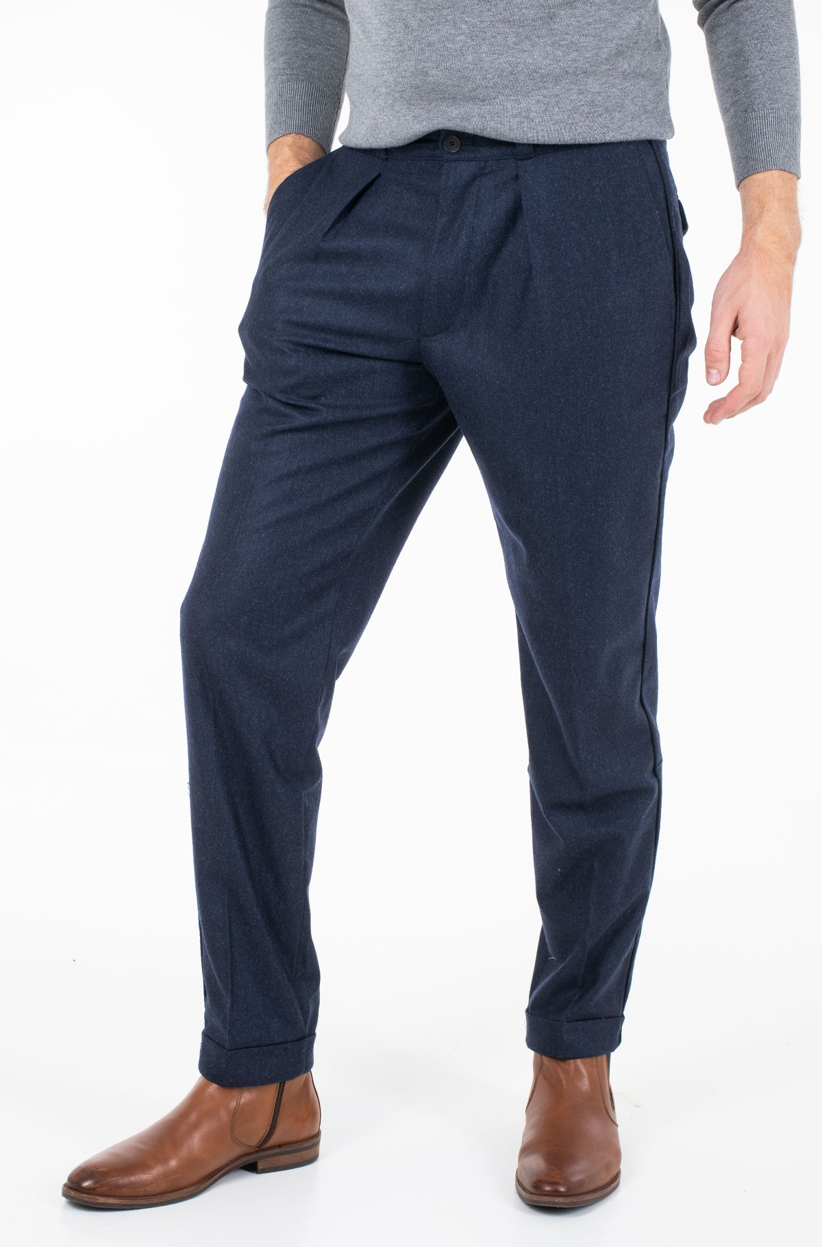 Püksid WIDE 1 PLEAT FIT WOOL SLACKS-full-1