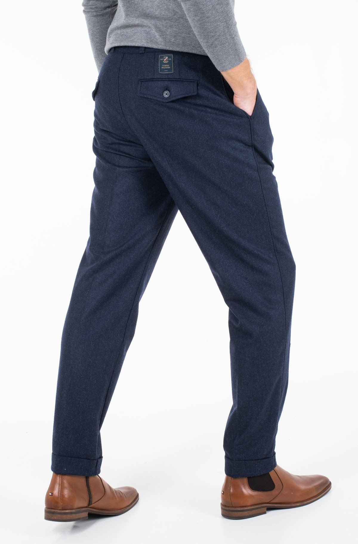 Püksid WIDE 1 PLEAT FIT WOOL SLACKS-full-2