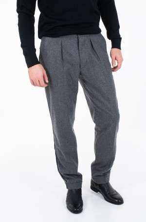 Trousers WIDE 1 PLEAT FIT WOOL SLACKS-1