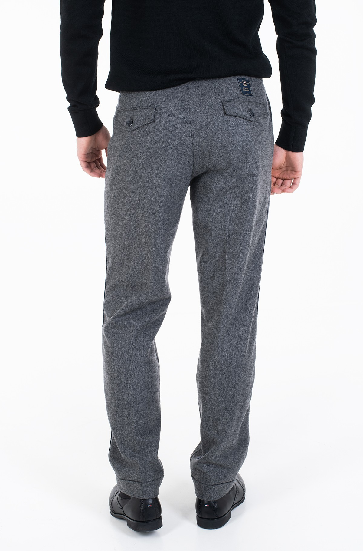 Trousers WIDE 1 PLEAT FIT WOOL SLACKS-full-3