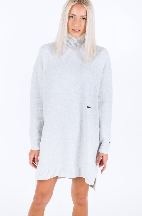 TJW TURTLE NECK SPLIT SWEATER-hover