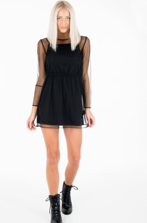 Dress LS MESH DOUBLE LAYER DRESS-2