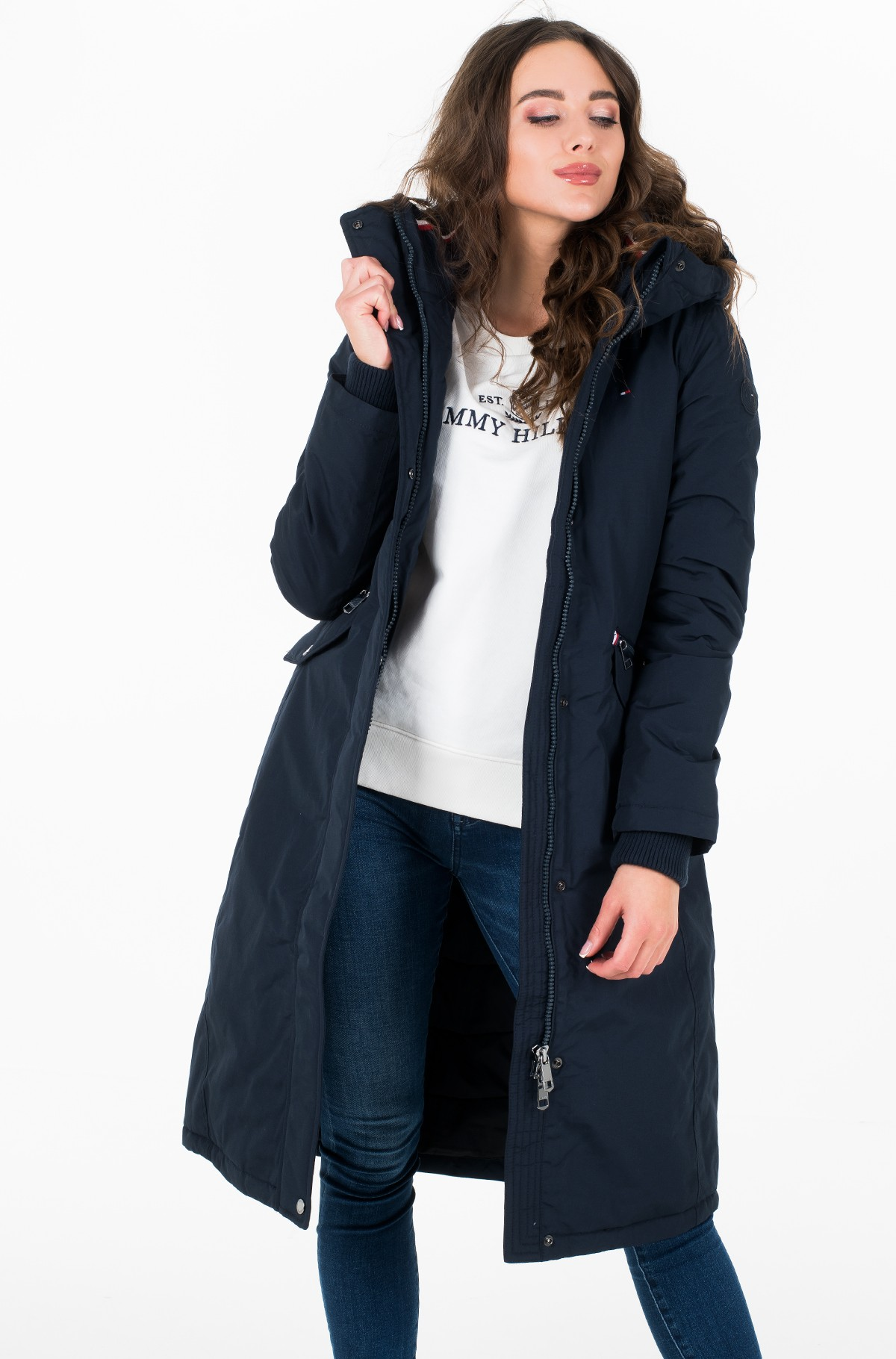 Parka TH ESSENTIAL LONG PADDED PARKA-full-1