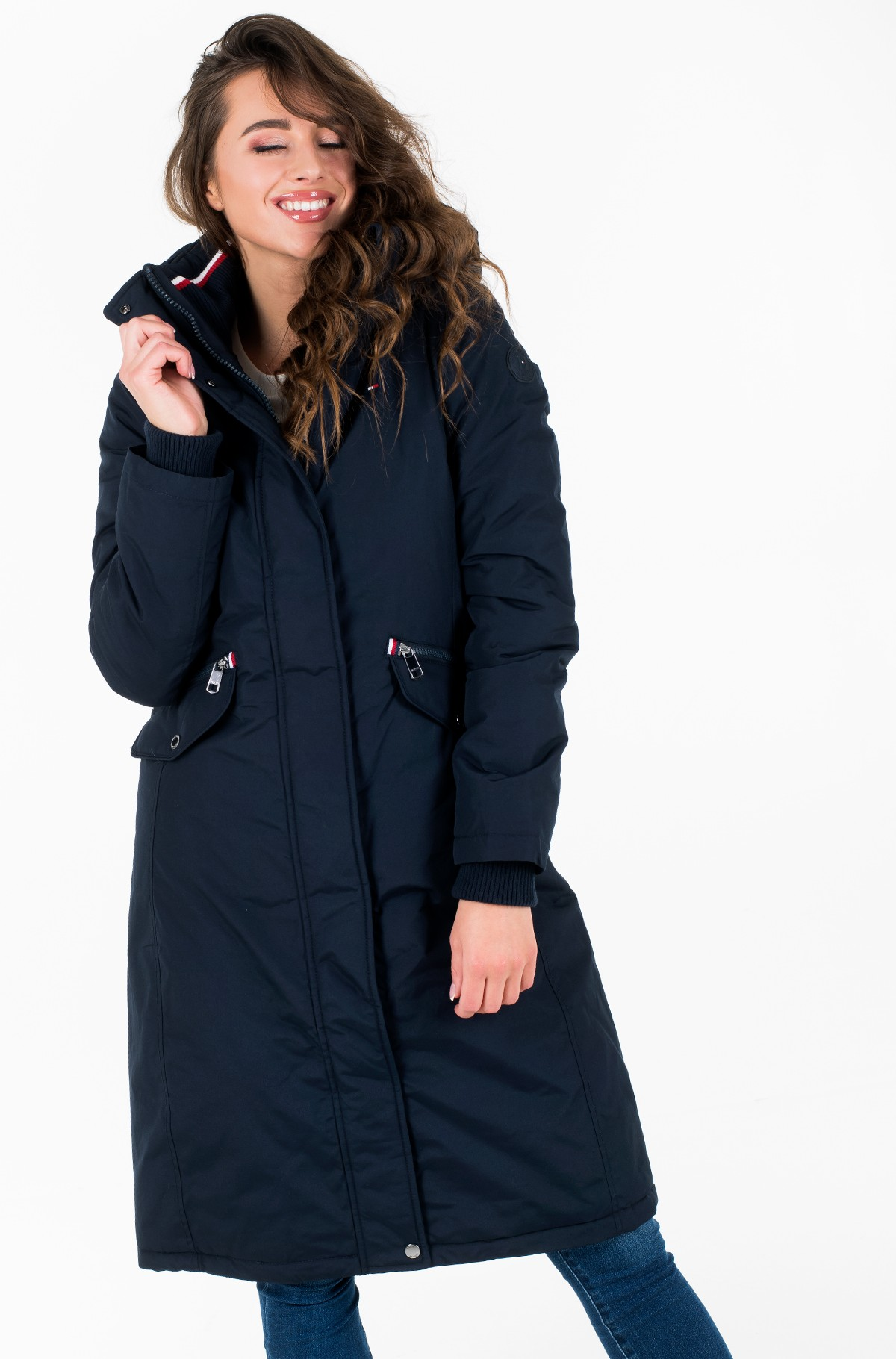 Parka TH ESSENTIAL LONG PADDED PARKA-full-2